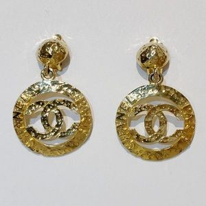 Authentic vintage Chanel CC drop earrings